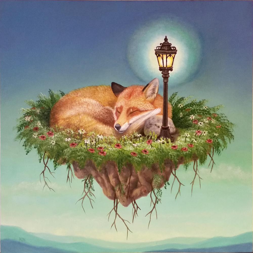 31. Fox sleeping lantern